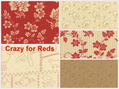 Crazy for Reds by Moda