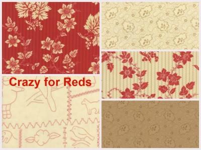 Crazy for Reds by Moda